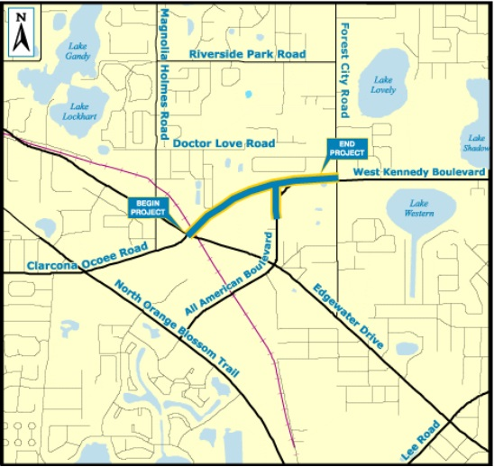 All American Blvd. Project Map